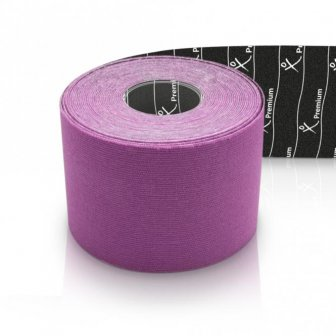 Physiotape PREMIUM Kinesiology Tape 5mx5cm purpur 40 % dicker