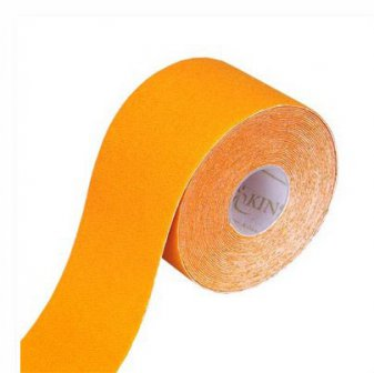 Physiotape orange, Kinesiologie Sporttape, 5.5 mtr x 5 cm
