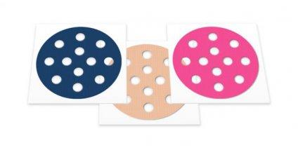 Weltneuheit: Akupunkturpflaster Form: rund klein gemischt