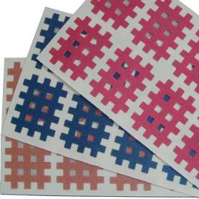 Gitter Akupunktur Pflaster flesh, pink, blau je 40 St. 2.1x2.7cm