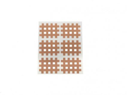Gitter Akupunkturpflaster Form: Gitter 60 St. hautfarbe 28x36mm