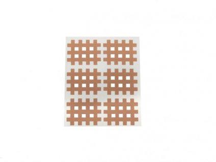 Gitter Akupunkturpflaster Form: Gitter 6 St. hautfarbe 28x36mm