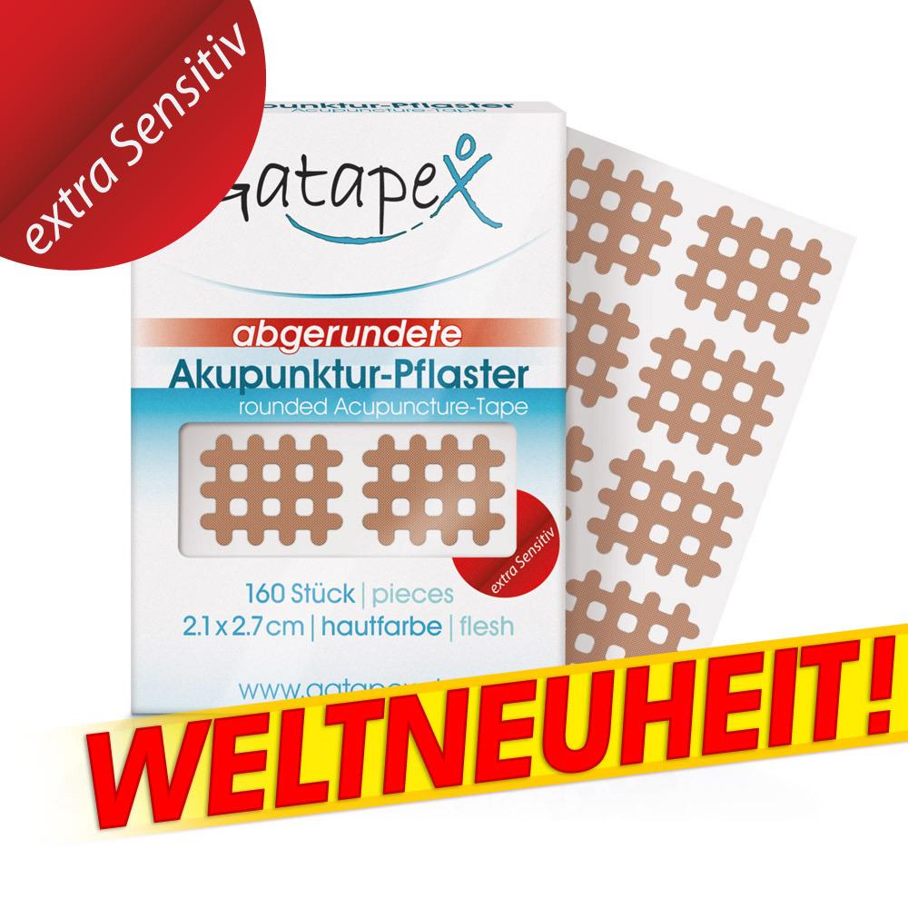 Gatapex Weltneuheit *Extra Sensitiv* Gitter Akupunktur-Pflaster flesh 8 St. 2,1 x 2,7cm mit abgerundeten Ecken hautfarbe
