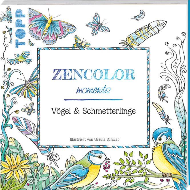 Buch: Zencolor moments Vögel & Schmetterlinge / (Ausmalen für Erwachsene)