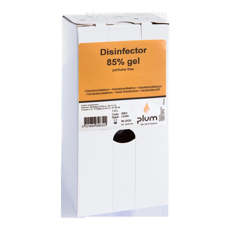 Plum Disinfector 85% - 1000 ml Bag-in-Box ( 8 St. ) Desinfektionsmittel hygienische Handdesinfektion Desinfektion ( Viruzid ) Covid-19