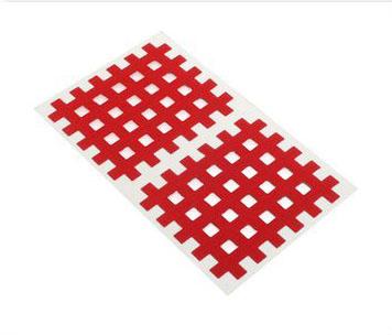 Gitter Akupunktur Tape Akkupunkturtape rot 40 St. 4,4 x 5,2cm
