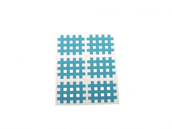 Gitter Akupunkturpflaster Form: Gitter 6 St. Blau 28x36mm