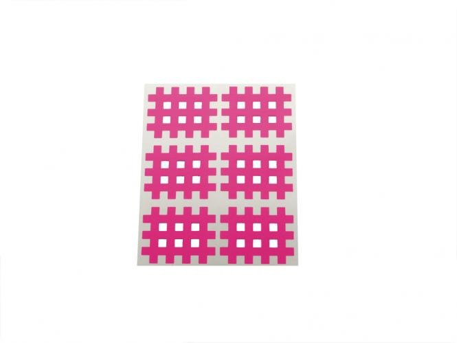 Gitter Akupunkturpflaster Form: Gitter 60 St. Pink 28x36mm