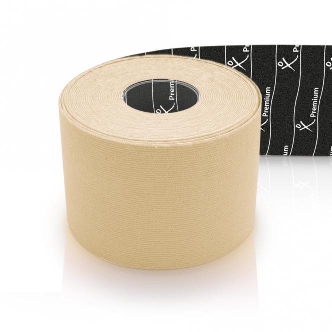 Tapeband von Gatapex PREMIUM Kinesiology Tape 5mx5cm elfenbein 40 % dicker