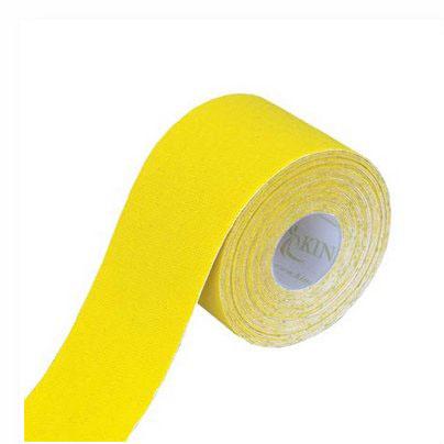 Tapeband von Gatapex gelb, Kinesiologie Sporttape, 5.5 mtr x 5 cm