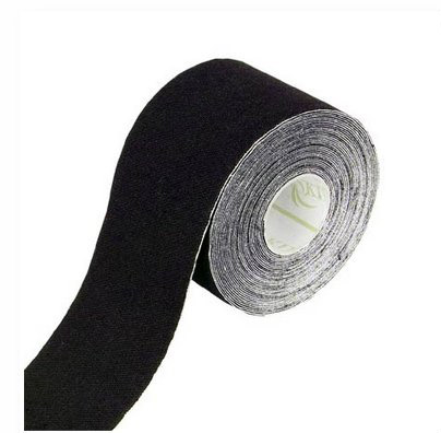 Tapeband von Gatapex schwarz, Kinesiologie Sporttape, 5.5 mtr x 5 cm